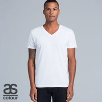 50+ AS COLOUR Mens Tarmac V-Neck Tee