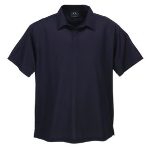 BIZ COLLECTION Mens Micro Waffle Polo thumbnail
