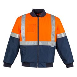 Mens HI Vis Quilted Flying Jacket Thumbnail