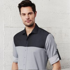 Biz Collection Mens Havana Long Sleeve Shirt Thumbnail