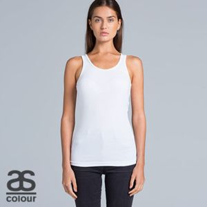 AS COLOUR Womens Even Rib Singlet Thumbnail