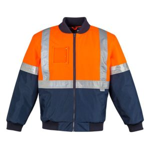 SYZMIK Mens HI Vis Quilted Flying Jacket Thumbnail