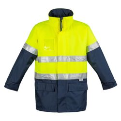 SYZMIK Mens Hi Vis Waterproof Lightweight Jacket Thumbnail