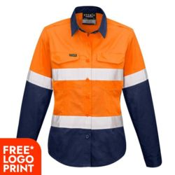 SYZMIK Womens Rugged Cooling Taped Hi Vis Spliced Shirt Thumbnail