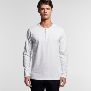AS COLOUR Mens Henley L /S Tee Thumbnail