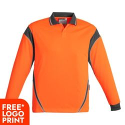 Mens Hi Vis Aztec Polo - Long Sleeve Thumbnail