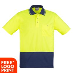 Unisex Hi Vis Basic Spliced Polo - Short Sleeve Thumbnail