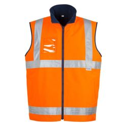 SYZMIK Mens Hi Vis Lightweight Fleece Lined Vest Thumbnail