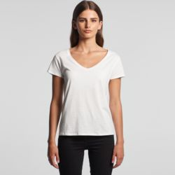 AS COLOUR Womens La Brea V-Neck Tee  Thumbnail