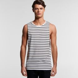 AS COLOUR Mens Barnard Sripe Tank Thumbnail