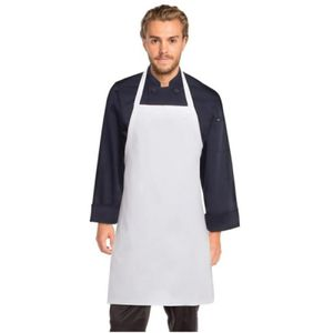 CHEF WORKS Black Bib Apron No Pocket Thumbnail