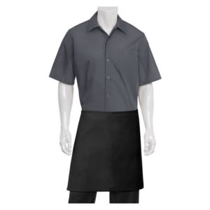 CHEF WORKS Half Black Apron Thumbnail
