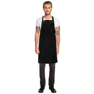 CHEF WORKS Black Short PVC Bib Apron  Thumbnail