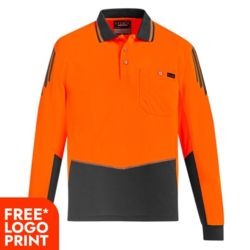 Mens Hi Vis Flux L/S Polo Thumbnail