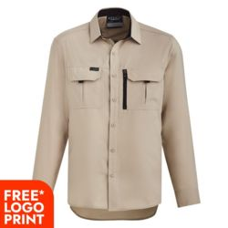 SYZMIK Mens Outdoor L/S Shirt Thumbnail