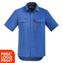 SYZMIK Mens Outdoor S/S Shirt Thumbnail