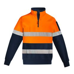 SYZMIK Mens Hi Vis 1/4 Zip Pullover - Hoop Taped Thumbnail