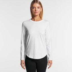 AS COLOUR Womens Curve Long Sleeve Tee Thumbnail
