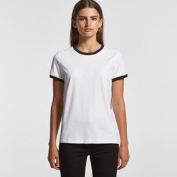 AS COLOUR Womens Ringer Tee  Thumbnail